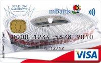Kibice zapłacą kartami mBanku z wizerunkiem Stadionu Narodowego